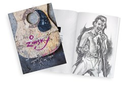 100 Sketches of the Greatest Music Legends of our Time by Zinsky - Book sized 10x13 inches. Available from Whitewall Galleries